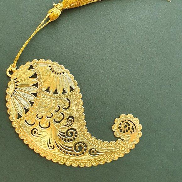 Bookmark - Brass metal cutting indian design 1